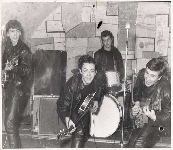 Beatles in action at the Cavern Club