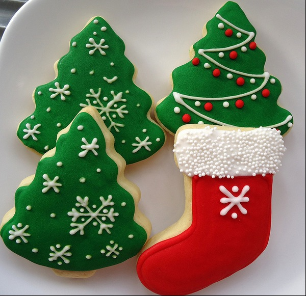 christmas tree cookies jana chocolate christmas pudding cookies ...