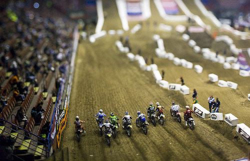 Dirt bikes race start