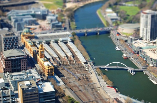 Melbourne City View Tilt Shift ( © DanielleMiner)