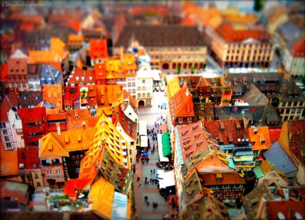 Tilt-shift From Strasbourg Cathedral's Roof