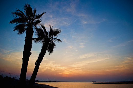 Bahrain – Beaches in Bahrain – Blue Hour