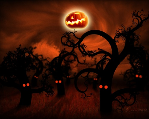Helloween in Midnight Forest