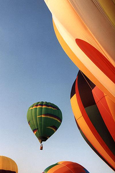 Balloons at Liftoff