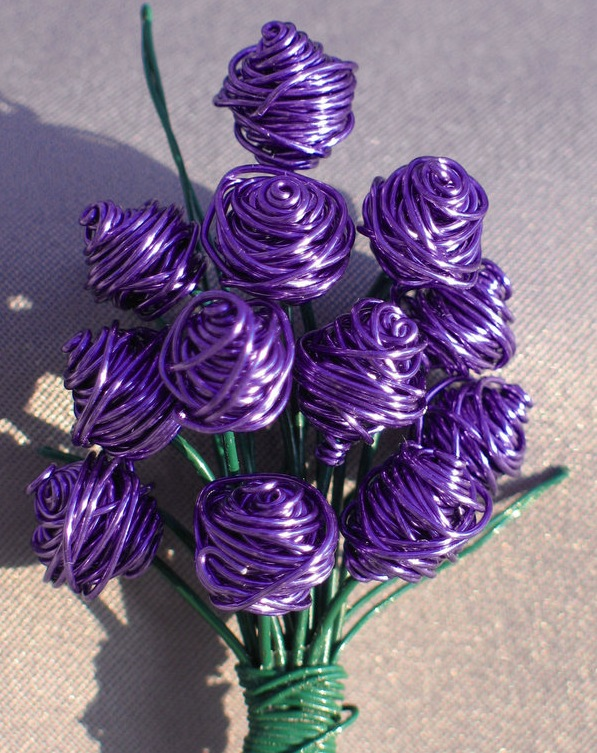 Purple Bouquet of Roses