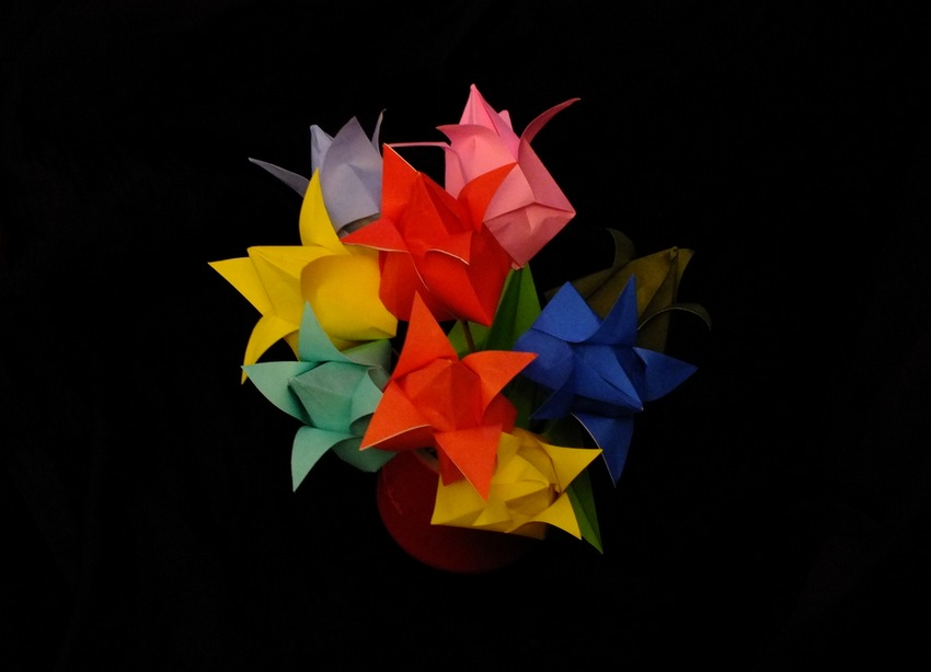 bouquet de tulipes origami