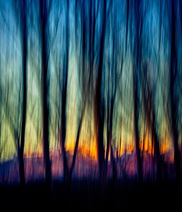 Abstract Alpine Dawn