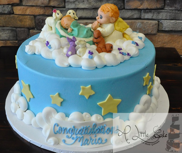 Angel Themed Baby Shower Cake