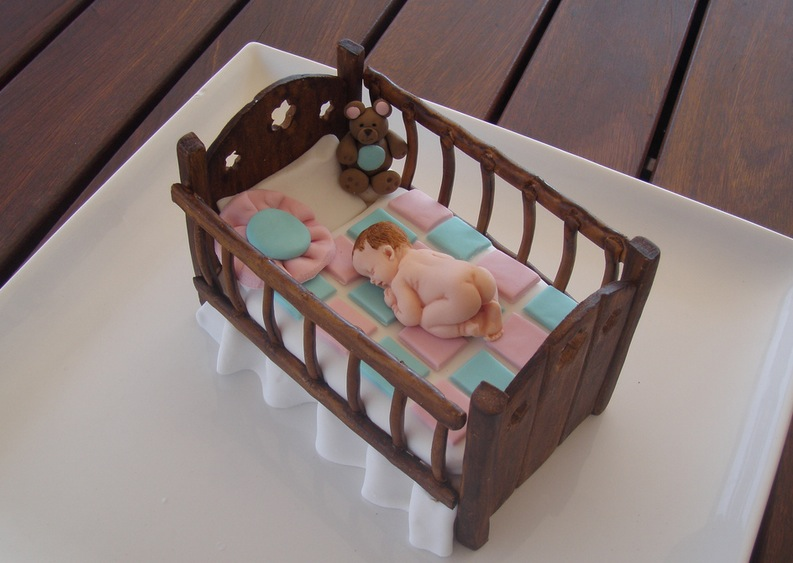 Baby Crib baby shower cake topper
