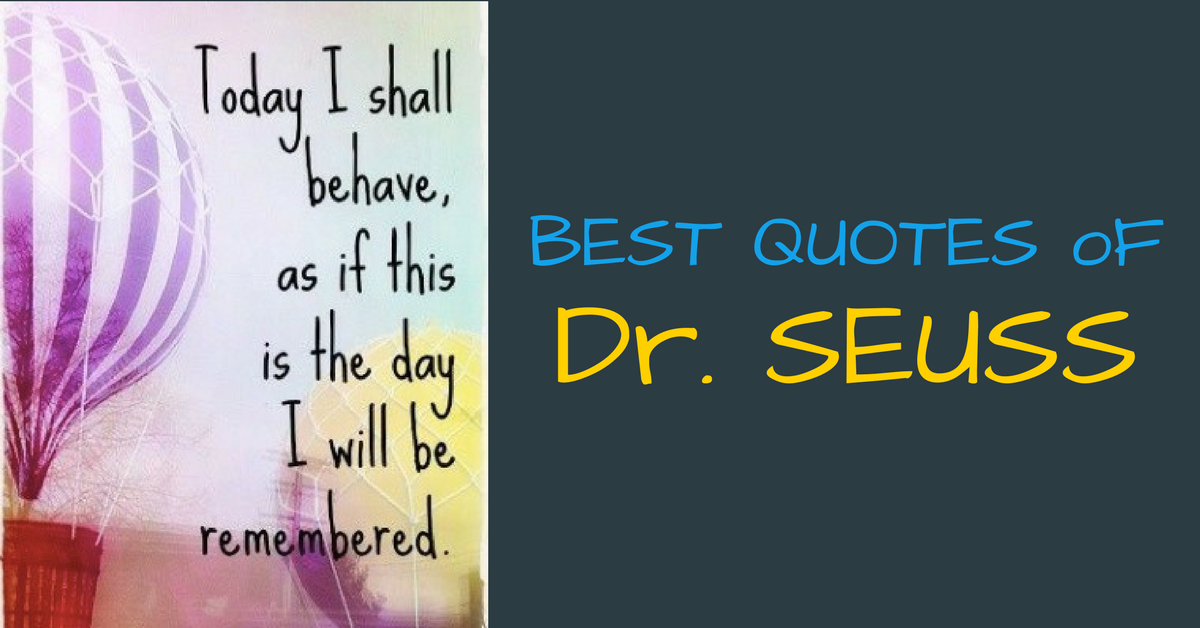 Best Quotes of Dr. Seuss
