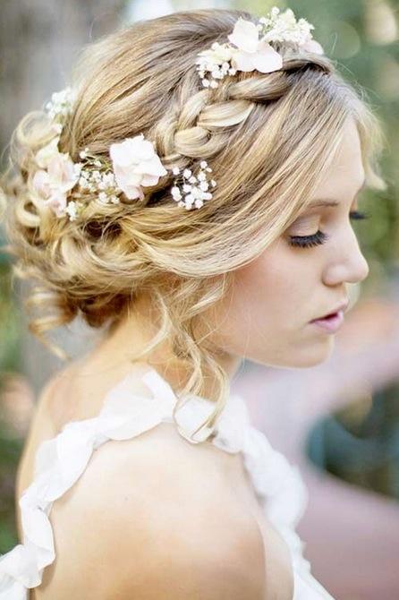 Braided crown hairdo