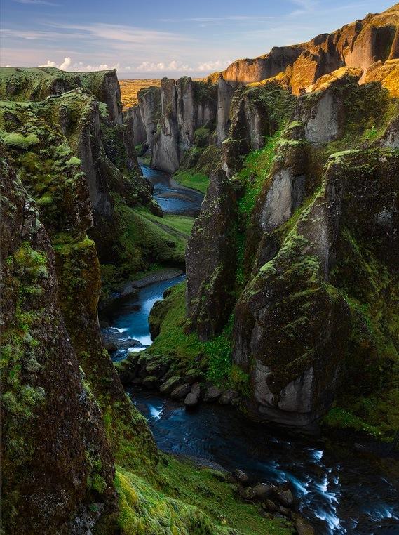 Fjaðrárgljúfur's Heart . . . Iceland