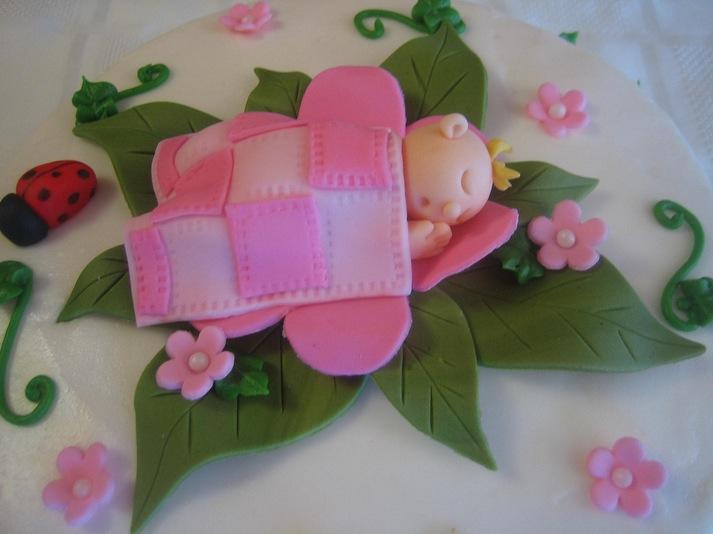 Garden Themed Baby Shower Cake