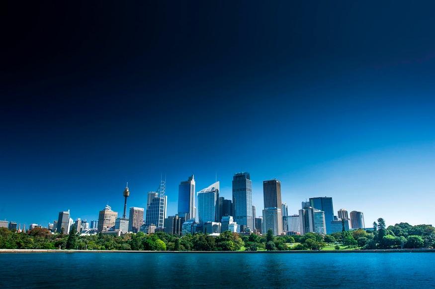 Sydney in blue shade