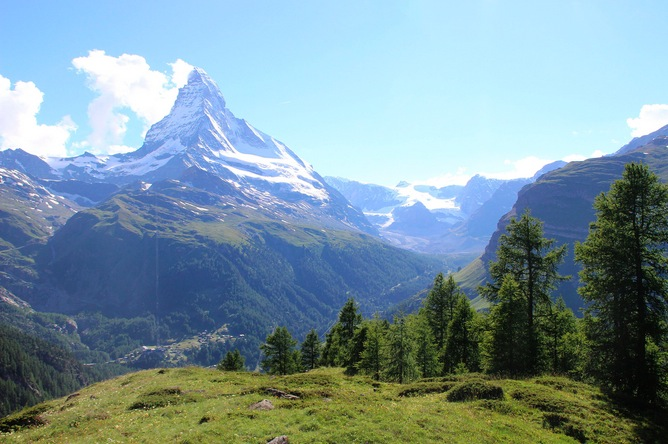 The Matterhorn from my camp-site this summer