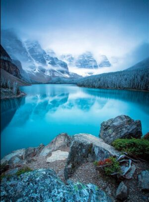 Winter approaching Moraine Lake, Banff National Park