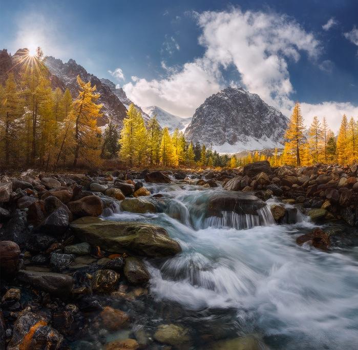Altai - the river Aktru, Russia