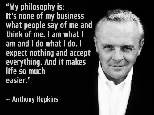 My philosophy is