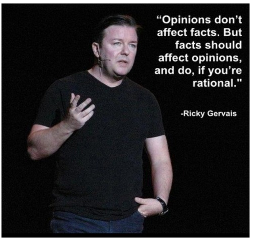 Opinions don't affect facts