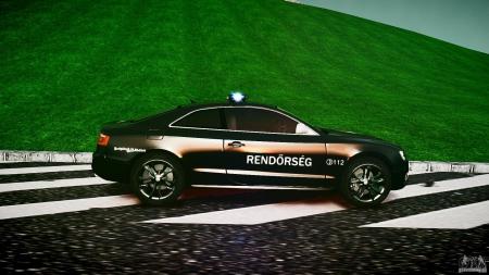 Audi S5 Hungarian Police Car for GTA 4
