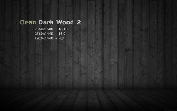 Dark Wood 2 Clean  Wallpaper,