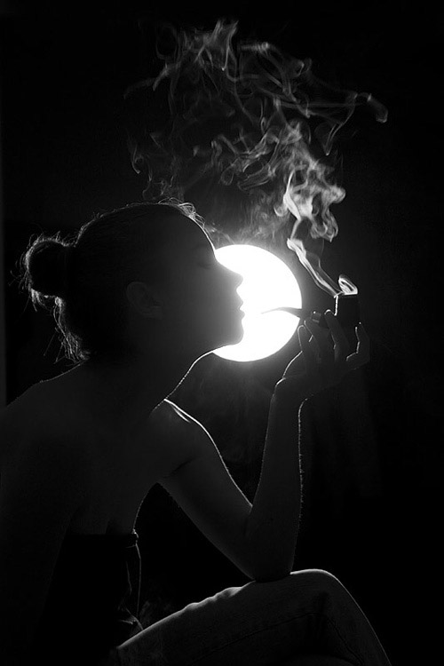 Smoke on the moon
