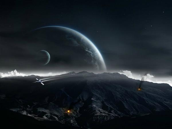 Space Dark Planet.