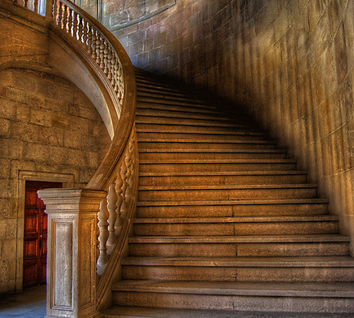 The stair of Carlos V