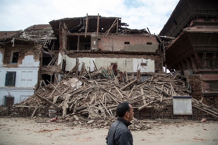 Destruction from Nepal Earthquake