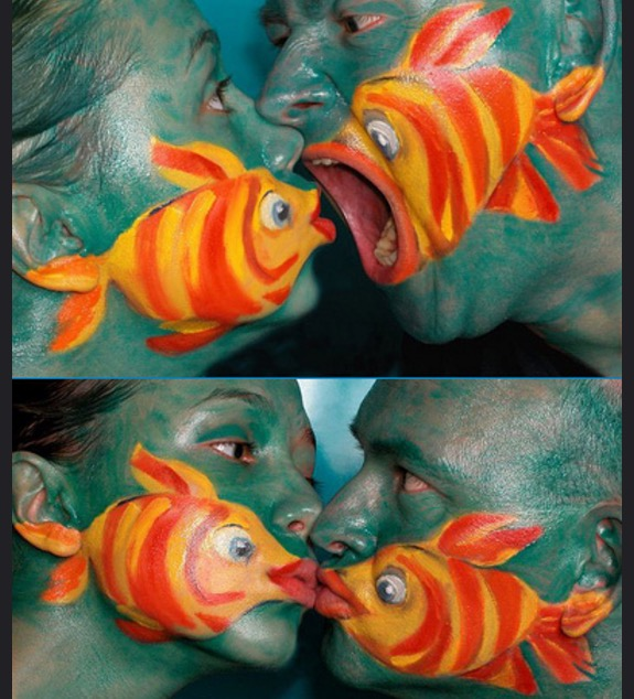 Angry fish face