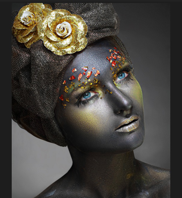 Woman art makeup