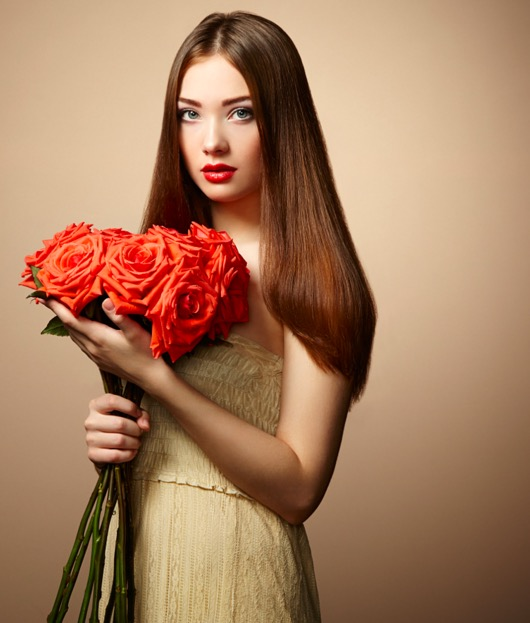 portrait-of-beautiful-dark-haired-woman-with-flowers