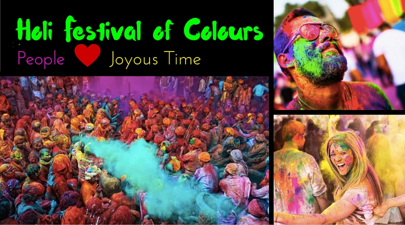 Holi Festival of Colours, People and Joyous Time