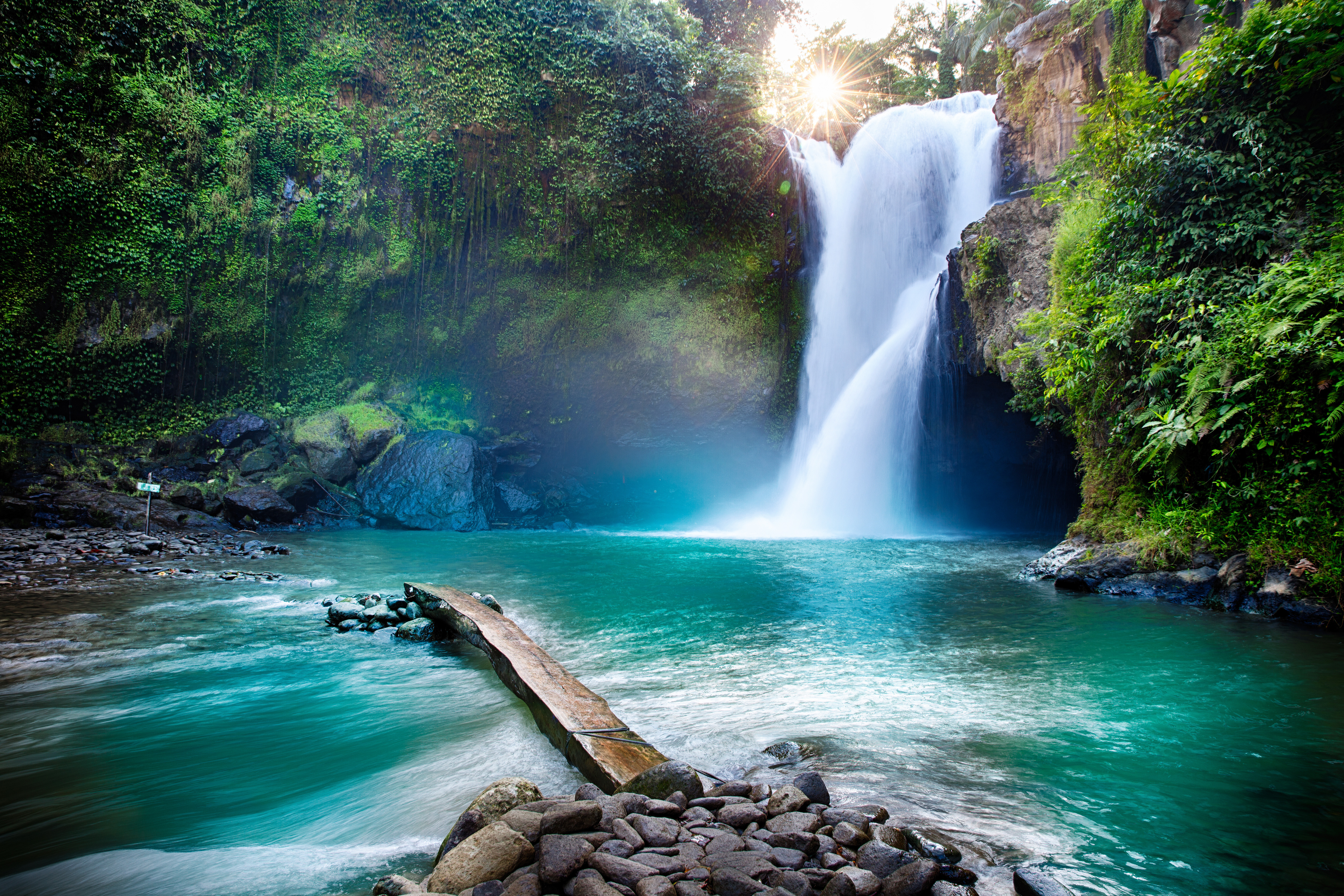 Waterfall Hidden In The Tropical Jungle Nature Wallpaper Cool Digital Photography